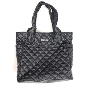 Kenneth Cole Reaction Black Quilted Nylon Tote Bag